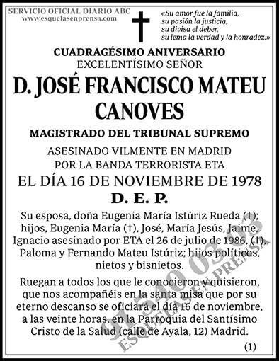 José Francisco Mateu Canoves